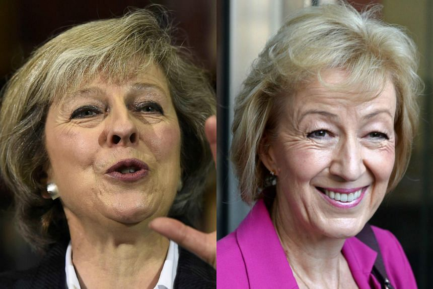 Theresa May (left) and Andrea Leadsom are the leading candidates to replace David Cameron as British prime minister.