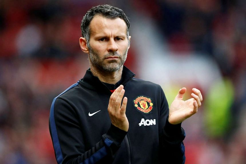 Ryan Giggs reacts during their English Premier League football match between Manchester United and Hull City at Old Trafford.