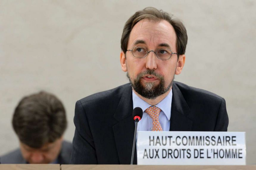 Zeid Ra'ad al-Hussein, the UN High Commissioner for Human Rights delivers a speech on June 13, 2016.