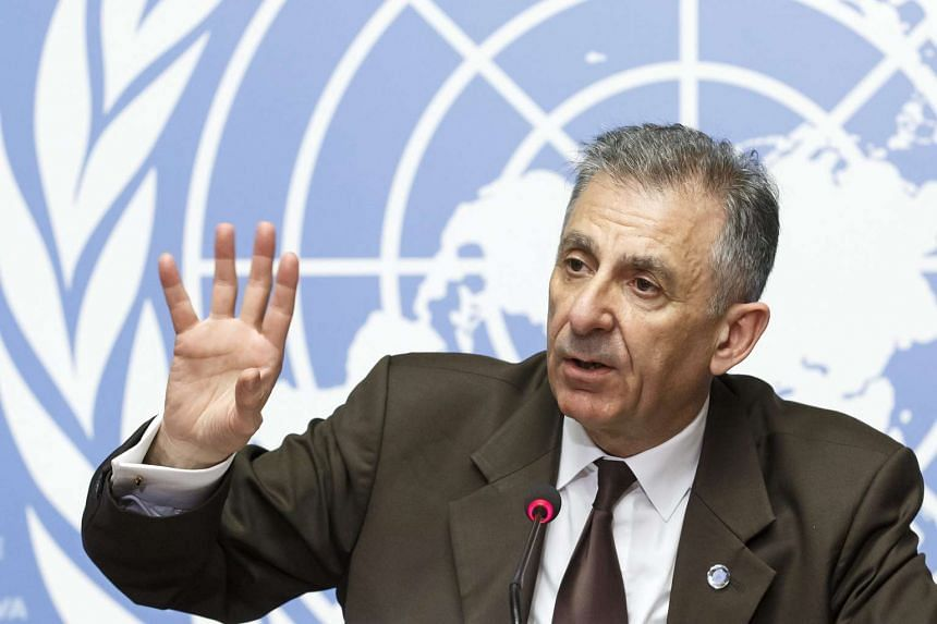 Jean-Paul Laborde, UN assistant secretary general, speaks about UN counter-terrorism efforts at a press conference on July 5, 2016.