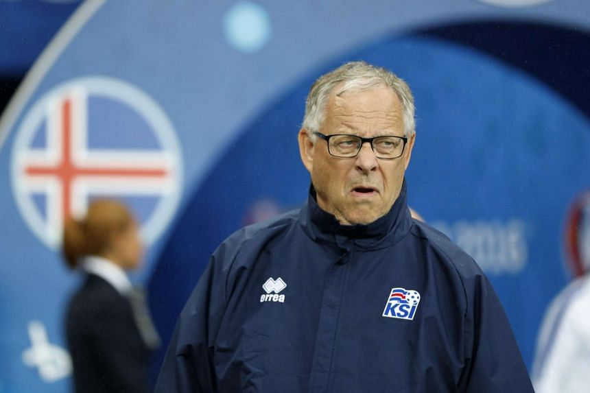 Iceland joint head coach Lars Lagerbac reacts during Uefa Euro 2016 football match between France and Iceland.