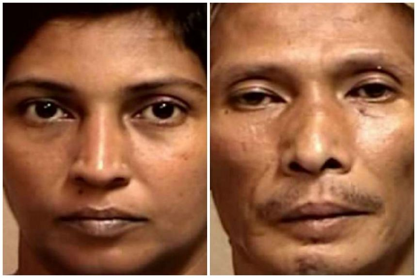 """Zaidah (left) and Zaini had inflicted """"severe torture"""" in a """"ruthless and unrelenting manner"""" on Daniel. Zaidah received 11 years' jail while Zaini got 10 years and 12 strokes of the cane."""