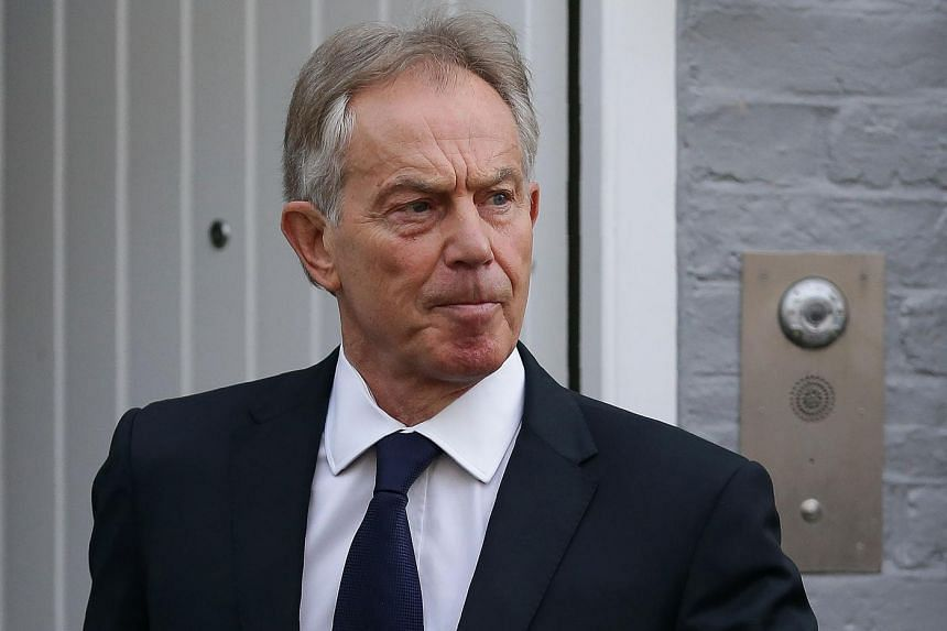 Former British Prime Minister Tony Blair leaves his home in London on July 6, 2016.