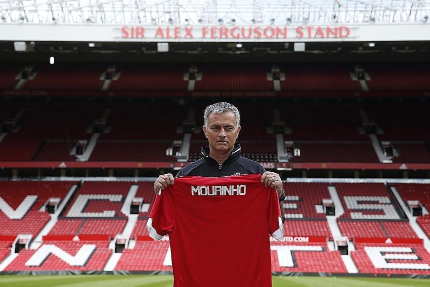 The Sir Alex Ferguson Stand at Old Trafford looms large over Jose Mourinho but the new manager is full of confidence and fighting talk that the Red Devils can be dominant again and he is chasing Ferguson's record of two Champions League wins.