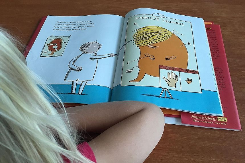 One of the pages in A Child's First Book Of Trump, which was released yesterday.