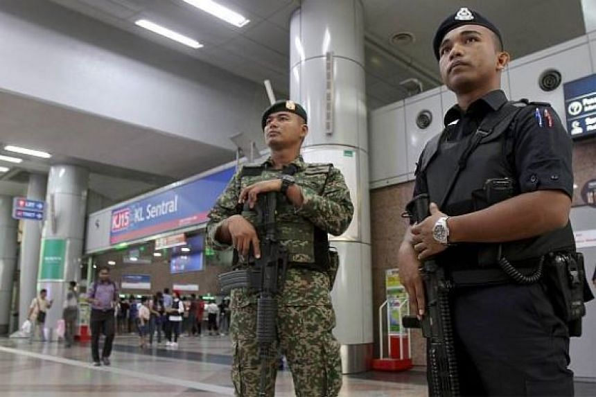 Security personnel at KL Sentral.