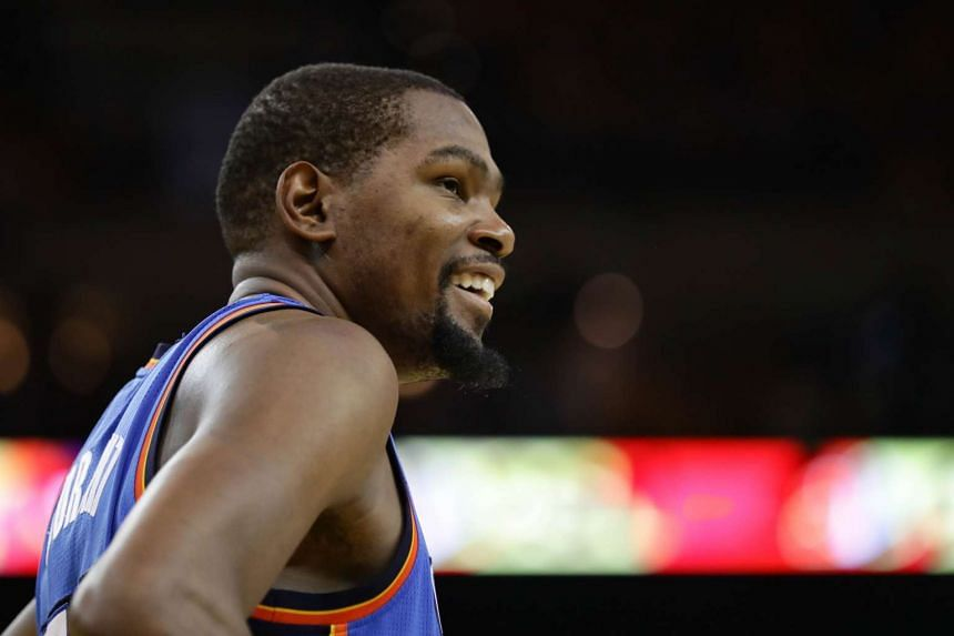 Durant averaged 28.2 points, 8.2 rebounds and 5.0 assists a game last season for the Thunder.