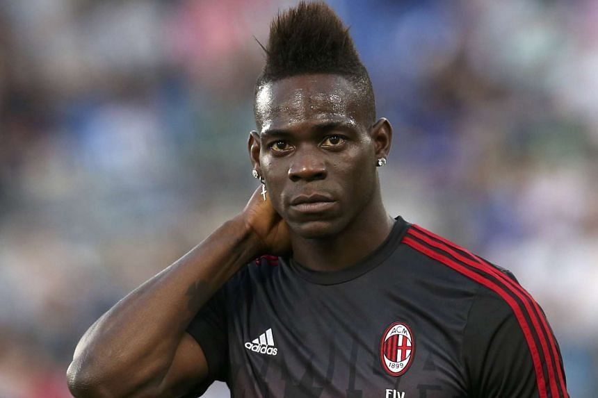 Mario Balotelli (then with AC Milan) looking on ahead of the match against Juventus on May 21, 2016.