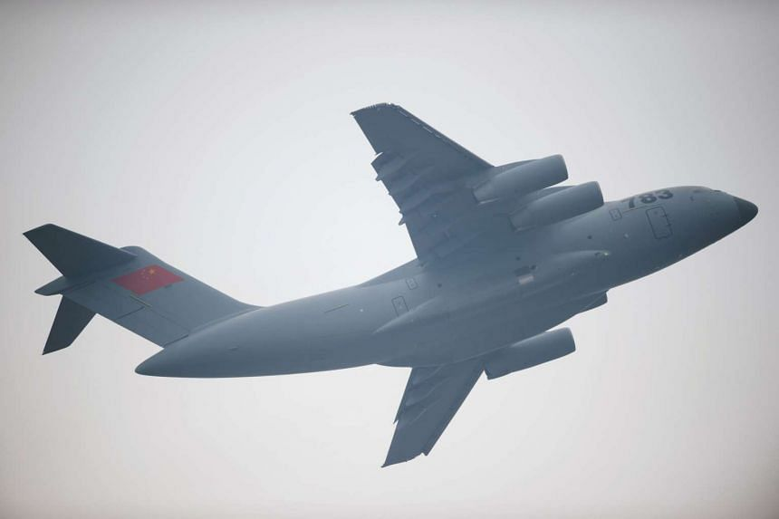 China has put the Y-20 (pictured), its newest military transport plane, into active service.