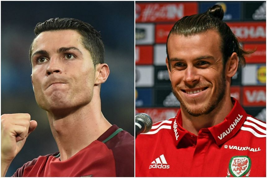 The clash has between Portugal and Wales been billed as a showdown between Portugal forward Cristiano Ronaldo (left) and Wales forward Gareth Bale.