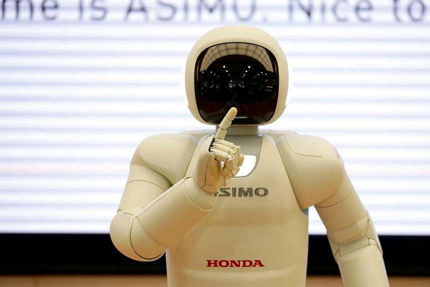 Honda Motor's humanoid robot Asimo is pictured at the company's showroom in Tokyo, Japan