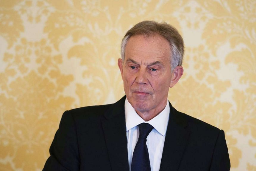 Tony Blair addresses a news conference in London on July 6, 2016, following the outcome of the Iraq Inquiry report.
