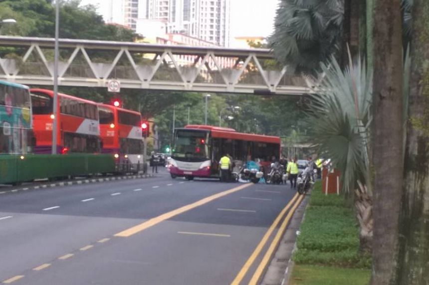 The accident took place along Toa Payoh Lorong 6, just outside the Toa Payoh bus interchange.
