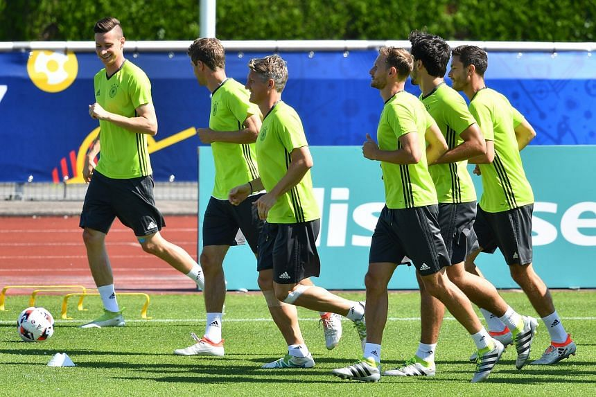 Germany (seen here in training) will face France in a semi-final of the Euro 2016 in Marseille on July 7.
