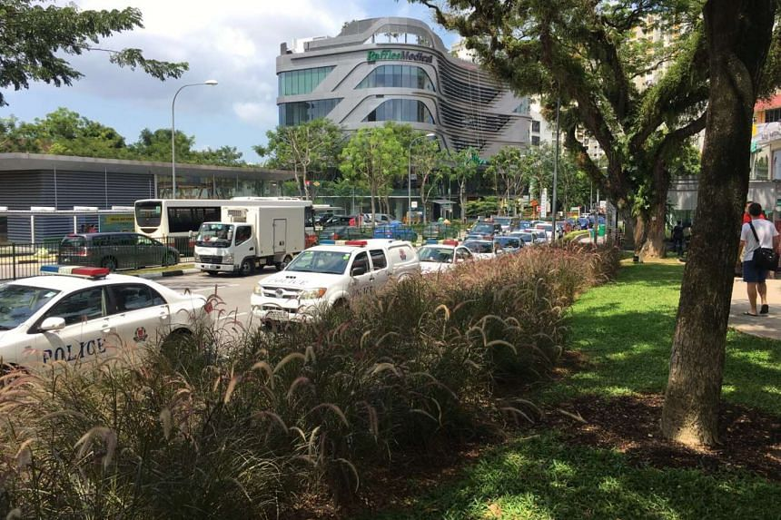As many as 10 police cars were spotted in Holland Village on Thursday (July 7).