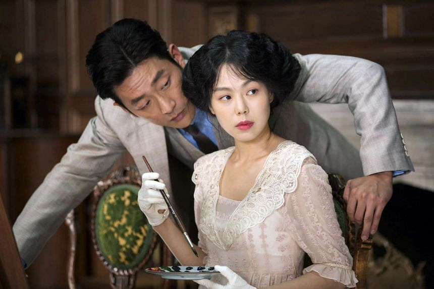 Kim Min Hee (right) and Ha Jung Woo in The Handmaiden.