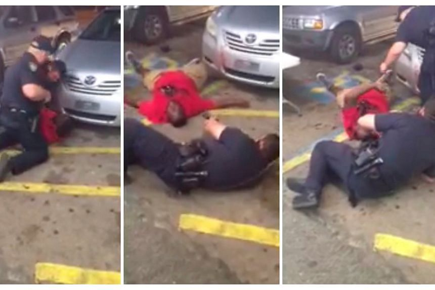 Still images from a video show Alton Sterling as he is shot dead by police during an incident captured on the mobile phone camera of shop owner Abdullah Muflahi in Baton Rouge, Louisiana, US, on July 5.