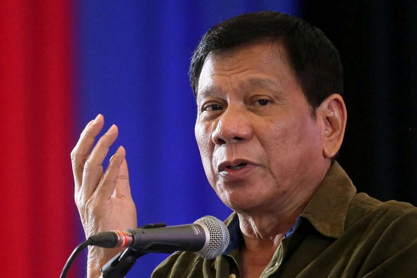 Philippine President Rodrigo Duterte speaks at a conference in Davao city, southern Philippines, on June 21, 2016.