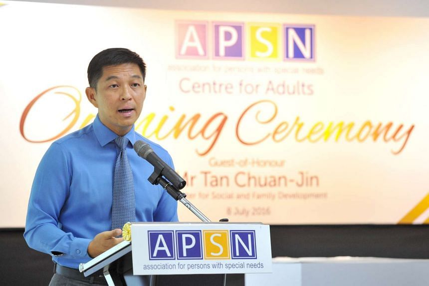 APSN Centre for Adults (CFA) having the official opening of their centre. with guest-of-honour Minister Tan Chuan-Jin, on July 8, 2016.