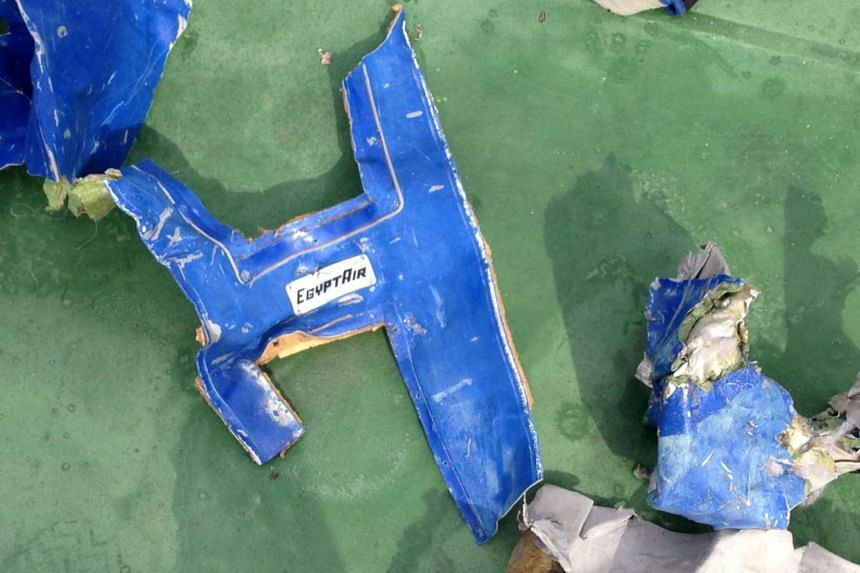 Recovered debris of the EgyptAir jet that crashed in the Mediterranean Sea, in a picture released on May 21, 2016.