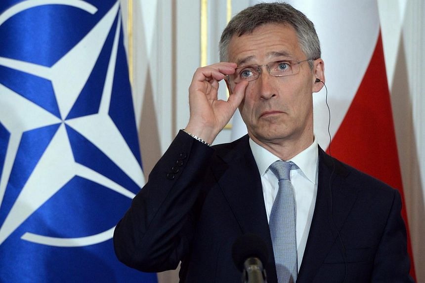 Nato chief Jens Stoltenberg at a press conference at the Belvedere Palace in Warsaw, Poland, July 7.