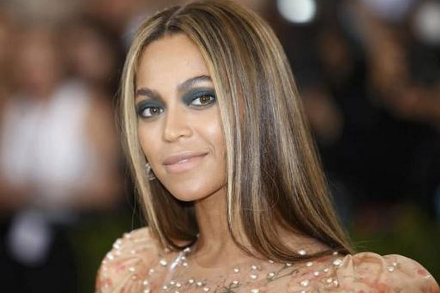 Singer-Songwriter Beyonce Knowles arrives at the Met Gala in New York on May 2.