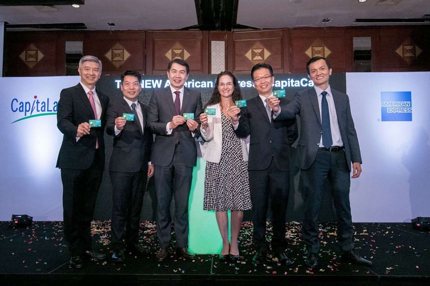 (From left) Mr Wilson Tan, CapitaLand Mall Trust Management CEO; Mr Jason Leow, CapitaLand Mall Asia CEO; Mr Lim Ming Yan, president and group CEO of CapitaLand; Ms Melanie Cochrane, senior vice-president and general manager of Japa, Global Merchant Servi