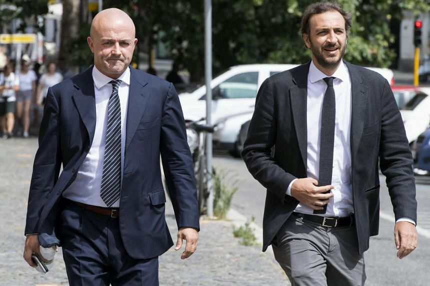 Italian journalists Gianluigi Nuzzi (left) and Emiliano Fittipaldi (right) were acquitted in the 'Vatileaks' case.