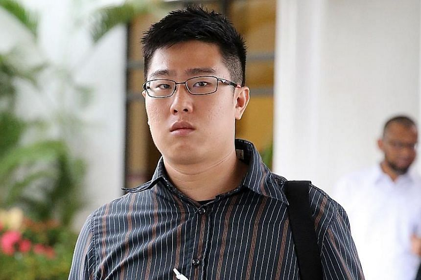 Tan (left) told Mr Chan (above) he had quarrelled with his father and pinned him on the floor.
