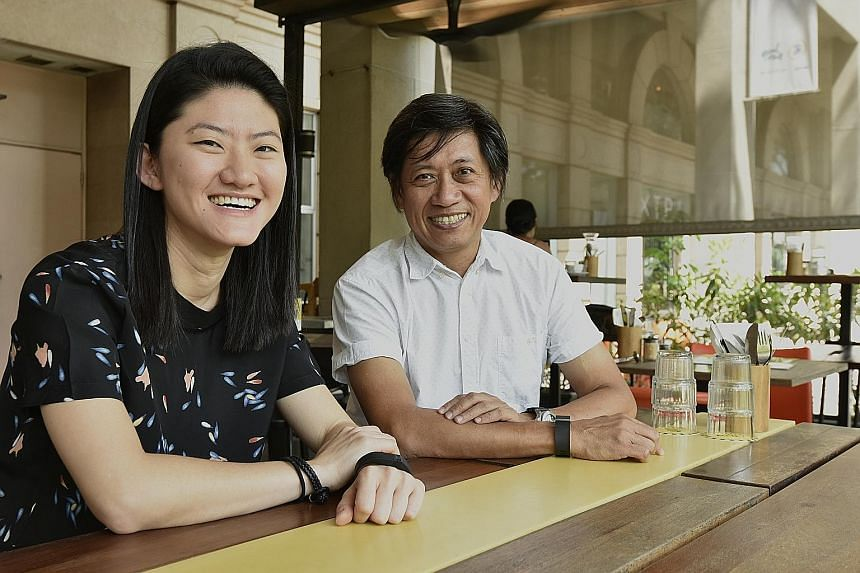 Park Mall became furniture-focused in 1995. Moving out of the mall will be bittersweet for Mr Lim, founder of furniture retailer Xtra, one of the building's oldest and best-known tenants. Mr Lim is seen here with Ms Jane Hia, owner of Kith Cafe.