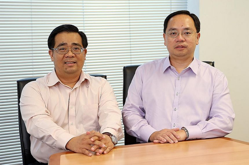 Advancer Global's exec chairman Desmond Chin (left) and his brother Gary, the firm's CEO. Along with their brother Francis, also a founding shareholder, they aim to expand in the niche markets they serve.