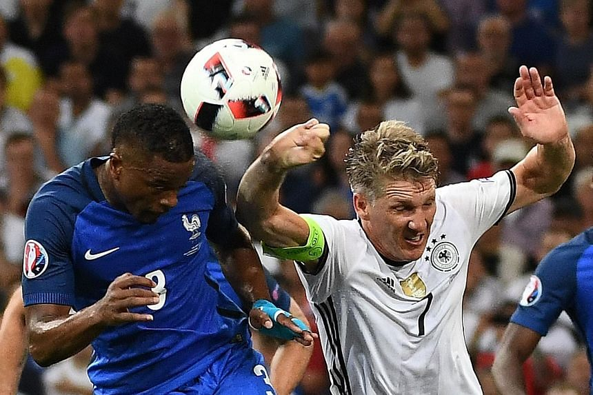 A dejected Germany captain Bastian Schweinsteiger after their 2-0 defeat by France, as his team comes up empty-handed at the European Championship despite reaching at least the semi-finals for a third straight time.