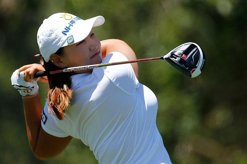 Lee Mi Rim of South Korea teeing off on the seventh hole during the first round of the US Women's Open in San Martin.