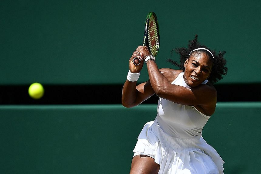 Top seed Serena Williams will equal Steffi Graf's Open era record of 22 Grand Slam titles if she triumphs today in the Wimbledon women's singles final against Germany's Angelique Kerber, who defeated her sister Venus in the semi-final.