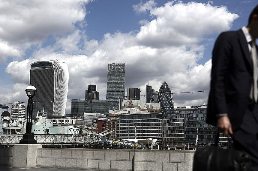 Banks and building societies in the United Kingdom had around £90 billion (S$157 billion) in credit extended to domestic commercial real estate at the end of last year, said a study by De Montfort University. German, other international and US banks