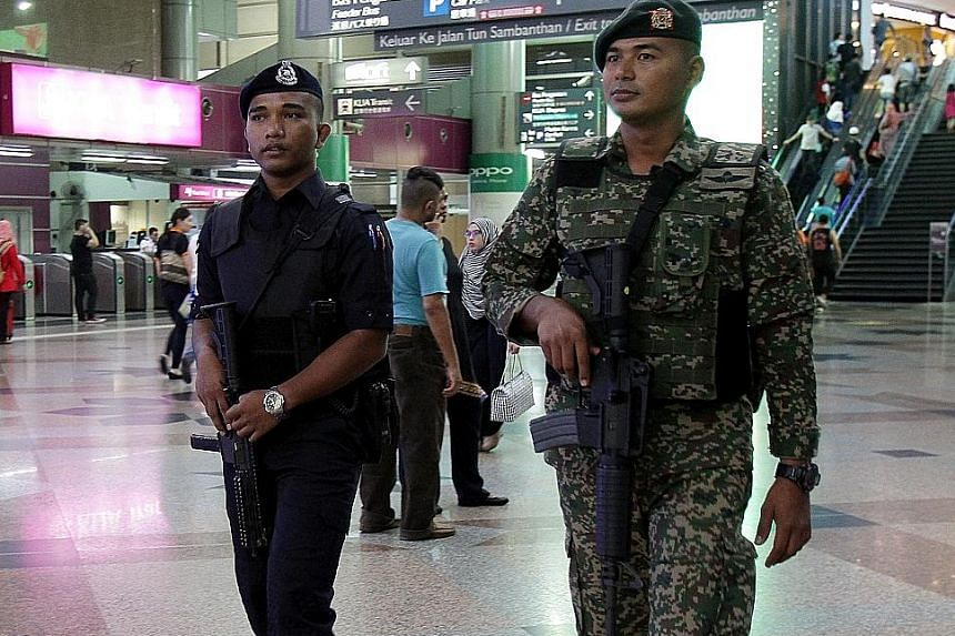 Security measures have been stepped up at KL Sentral following the grenade attack at a nightspot in Puchong which was linked to ISIS.