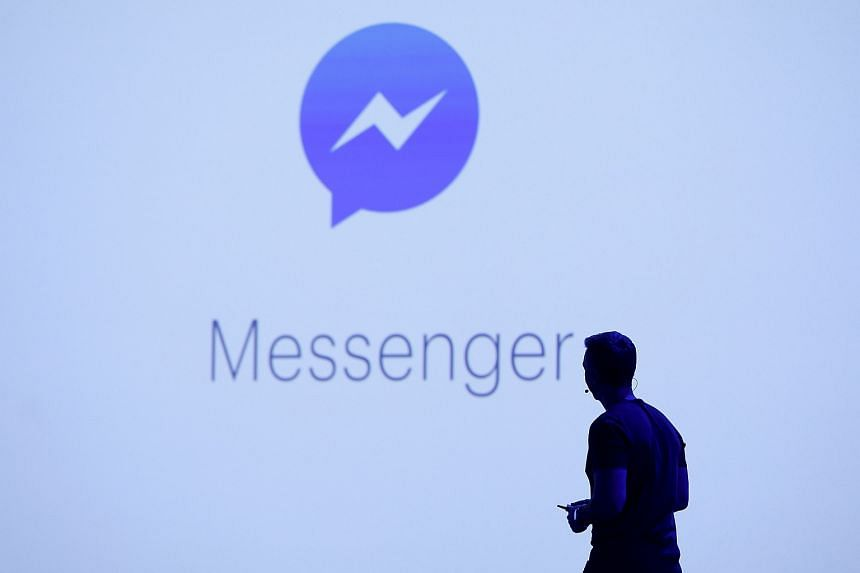 Facebook's vice-president of messaging products David Marcus seen on stage during the Facebook F8 conference in San Francisco on April 12, 2016.