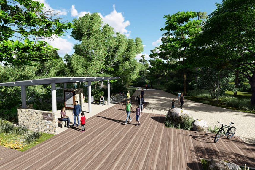 An artist's impression of the amenities along the Round Island Route.