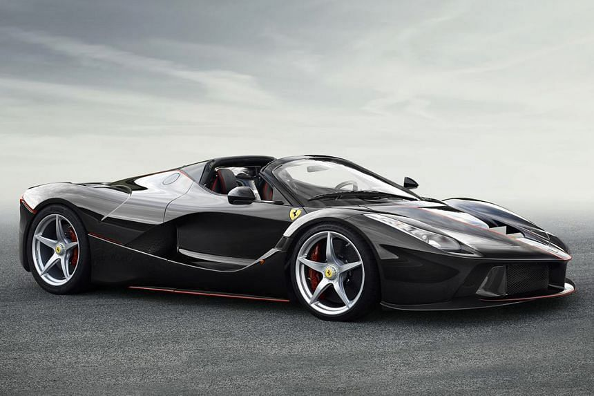 This is the open-top version of the LaFerrari (above), a new limited-edition supercar.