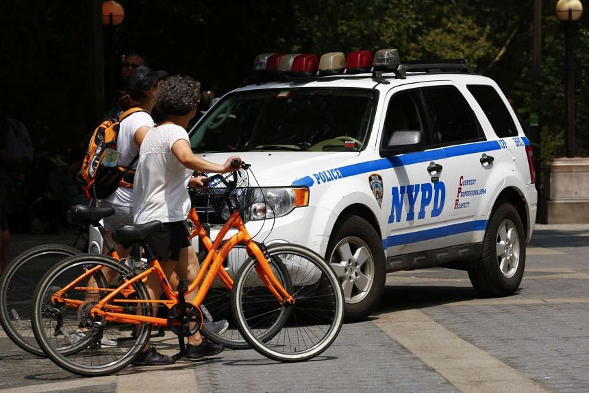 New York Police Department (NYPD) officers patrol in Central Park on July 8 in New York City. The NYPD increased their presence around the city following the shooting deaths of five Dallas police officers during a Black Lives Matters demonstration on