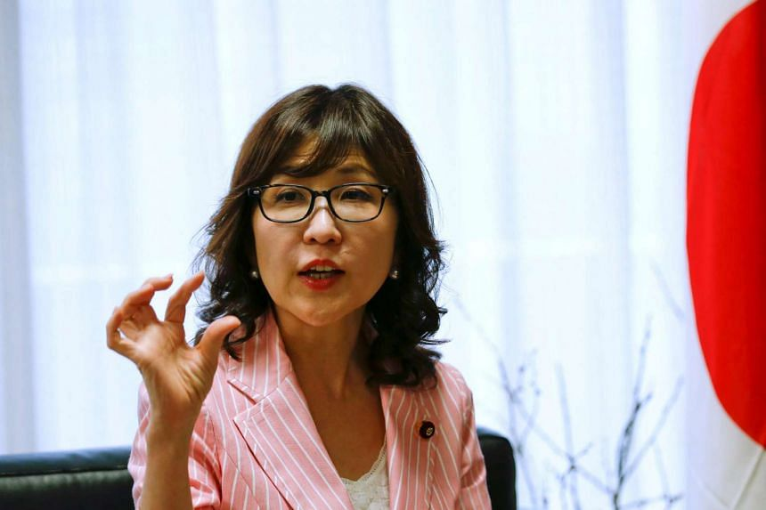 Tomomi Inada, policy chief the Liberal Democratic Party, has called for changing the Japan's pacifist constitution.