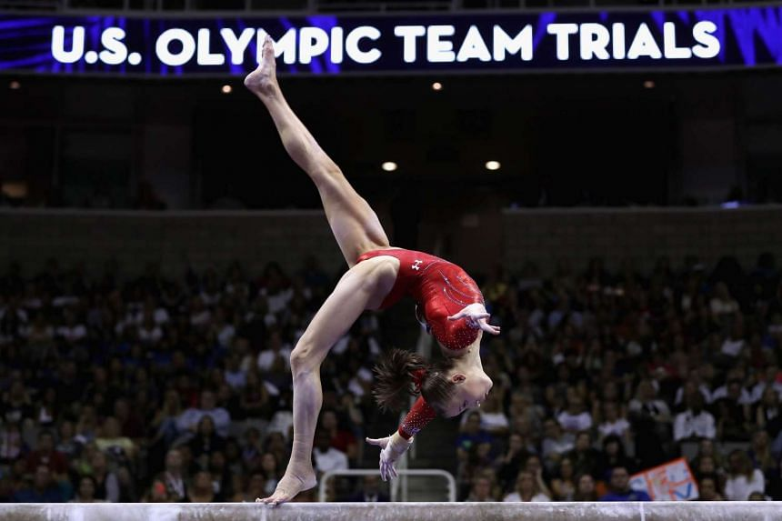 Madison Kocian competes on the balance beam during day 1 of the 2016 US Olympic Women's Gymnastics Team Trials at SAP Center on July 8, 2016 in San Jose, California.