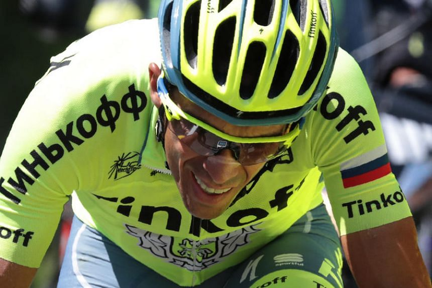 Spain's Alberto Contador rides during the 184,5 km ninth stage of the 103rd edition of the Tour de France cycling race on July 10, 2016.