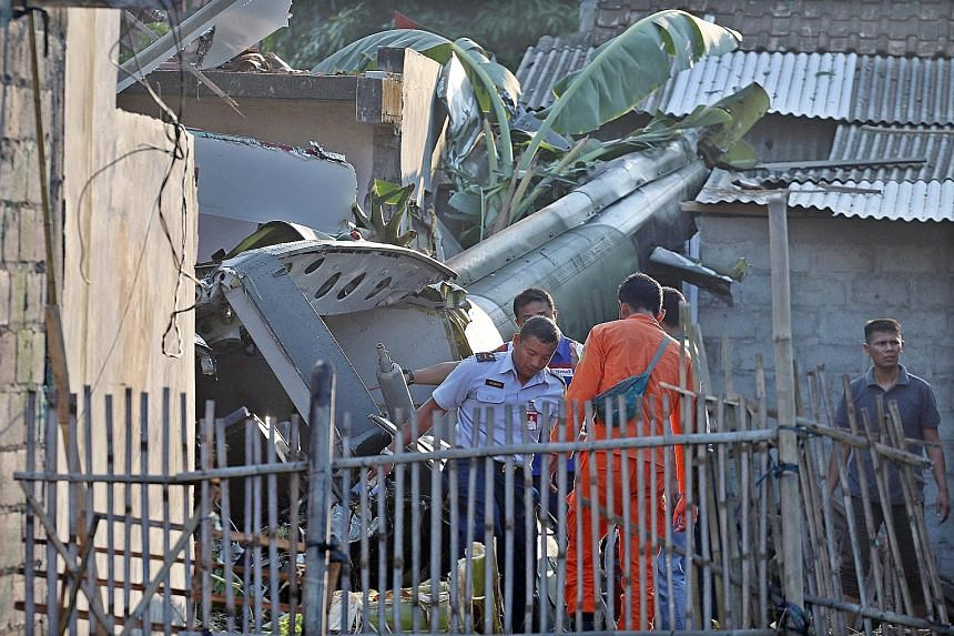 The helicopter crashed into a home in a suburban area north of Yogyakarta. Three of the helicopter's six passengers were killed, and three others were taken to hospital with serious injuries. The building suffered damage, but no one was inside at the