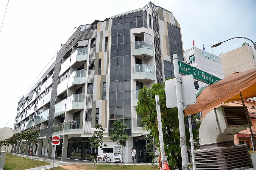Smart Suites, one of the condominiums in Geylang where prostitutes advertising online are operating from. MHA said the police will take action against owners of residential apartments used by vice workers.