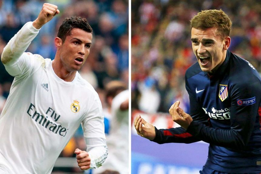 Real Madrid's Cristiano Ronaldo (left) and Atletico Madrid's Antoine Griezmann (right) will go head-to-head when Portugal faces off against France in the UEFA EURO 2016 final match.