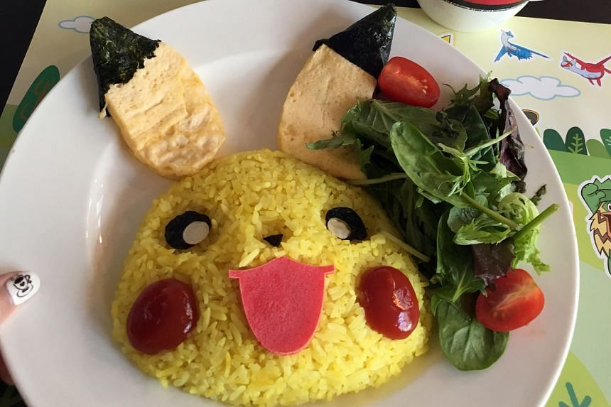 Pikachu Smiling Rice Omelette With Magma Sauce.