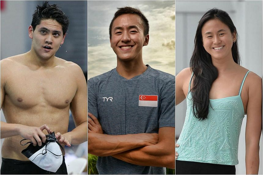 Singapore will field its smallest swimming squad at the Olympic Games in more than three decades, with just Joseph Schooling (left), Quah Zheng Wen (centre) and Quah Ting Wen to feature in the pool at Rio de Janeiro next month.
