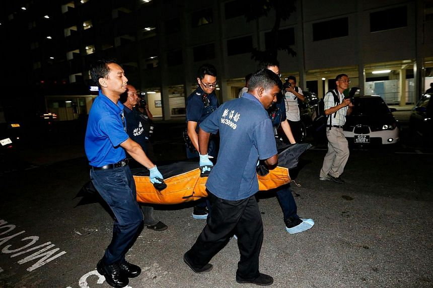 A 20-year-old man was arrested Saturday night after a 26-year-old man was found dead outside a flat at Block 279 in Yishun.