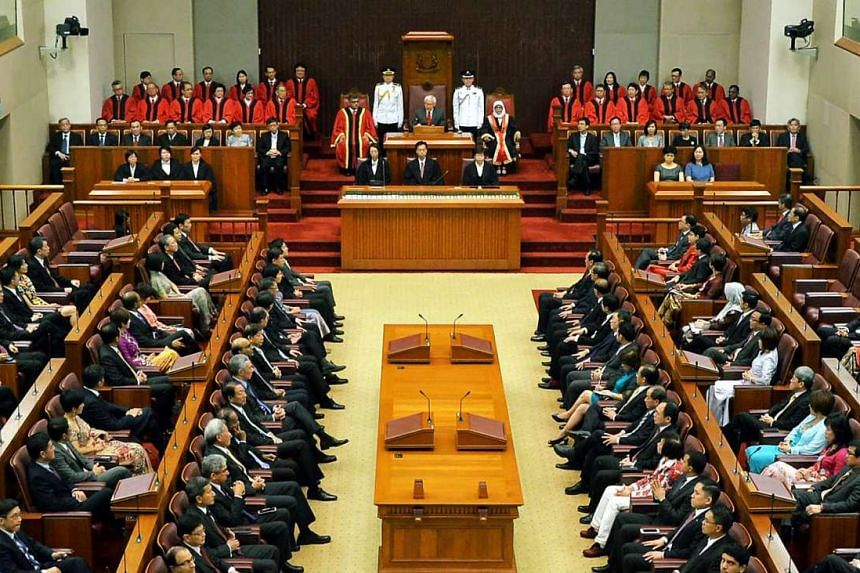 The opening of Singapore's 13th Parliament on Jan 15, 2016.